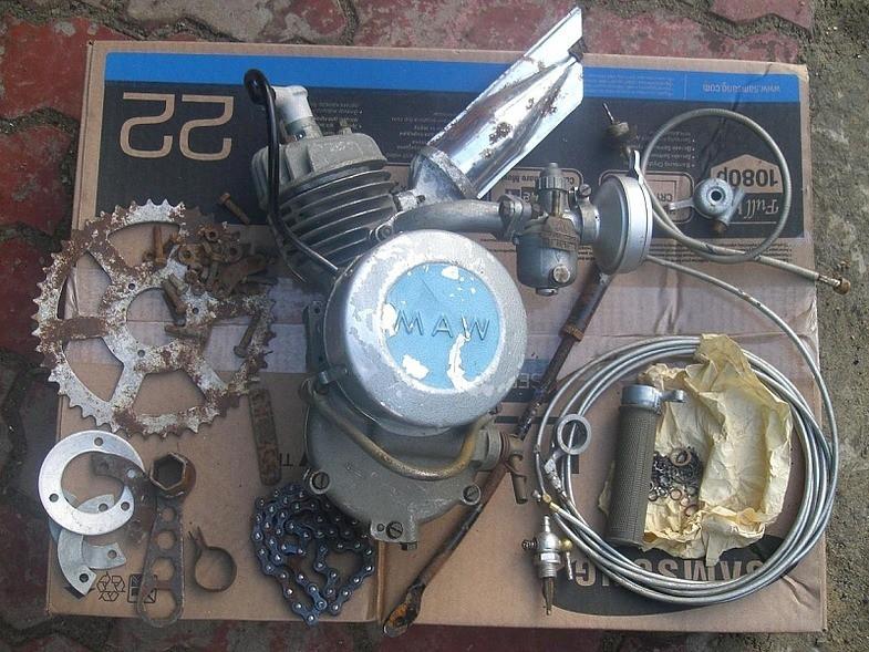 Продам мотор MAW 1959г на веломопед