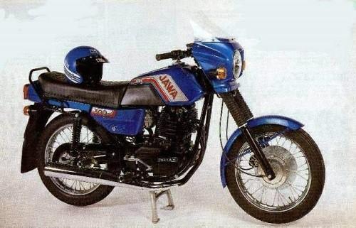 ретро мотоцикл Ява
